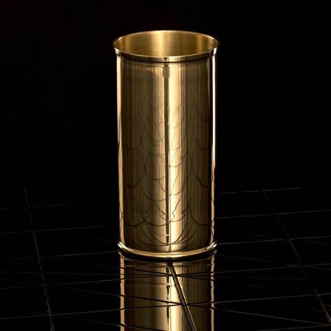 Messingvase H 17 cm