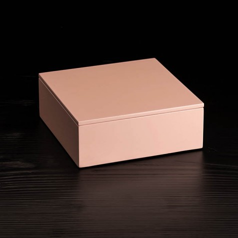 Lackbox mit Deckel 19 x 19 cm, powder rose