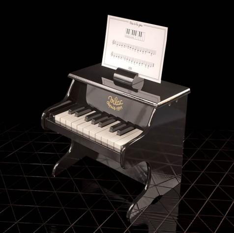Schwarzes Spielzeugpiano