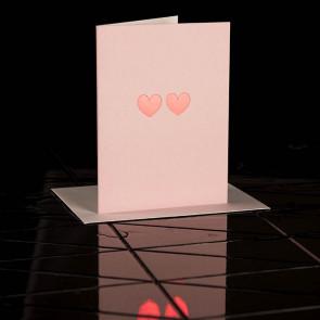 Karte Zwei Herzen