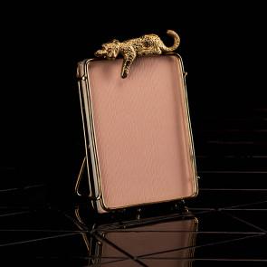 Bilderrahmen, Leopard, goldfarben, klein