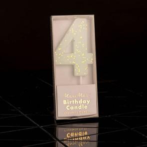 Geburtstagskerze N° 4