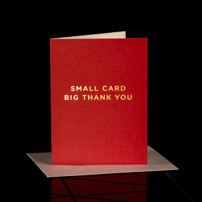 Small Card Big Thank You, rot