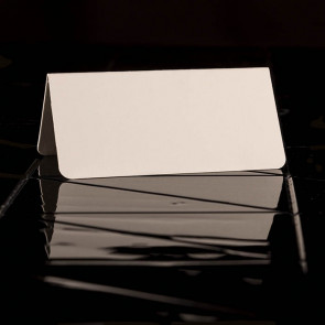 Placecards white, textured paper