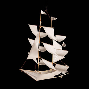 Small sailing ship, white