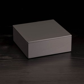 Lacquered box with top, anthracite