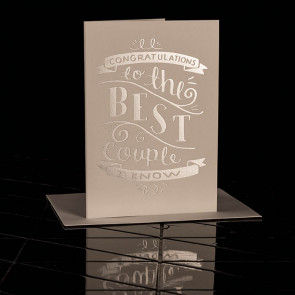Congratulations to the Best Couple I know Card