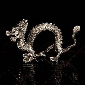 Napkin ring with dragon motif