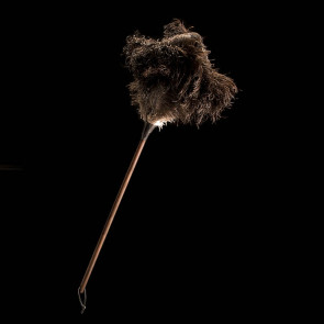 Ostrich feather duster, black