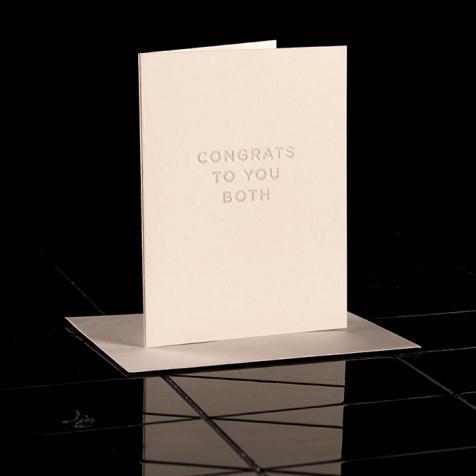 Karte Congrats To You Both