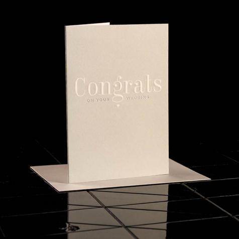 Karte Congrats on your Wedding