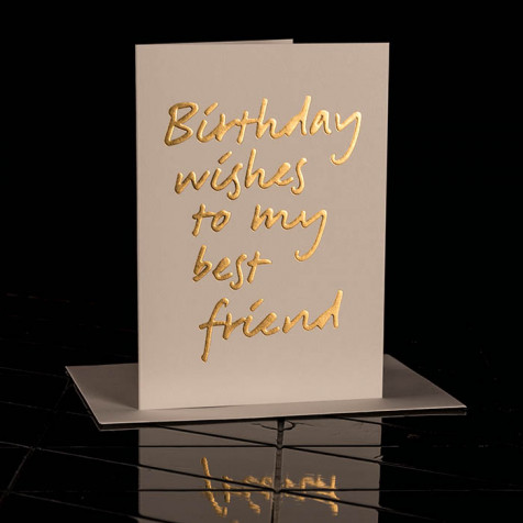 Karte Birthday wishes to my best friend