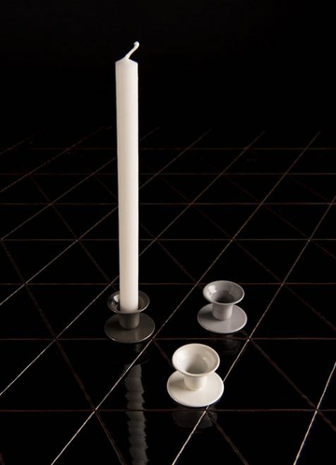 Candle holder, white
