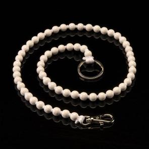 Key fob, beads, long, white
