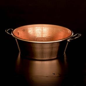 Jam bowl, hammered copper