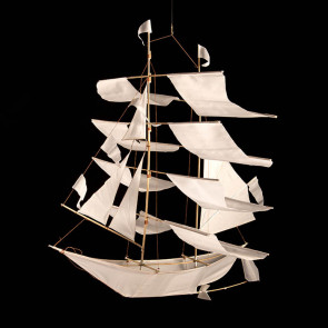 Large sailing ship, white
